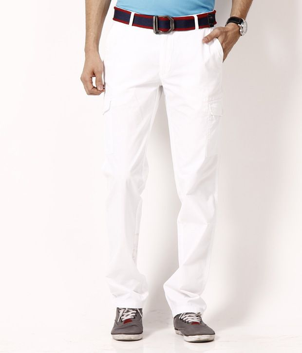 Wills Lifestyle Bright White  Cotton Trouser