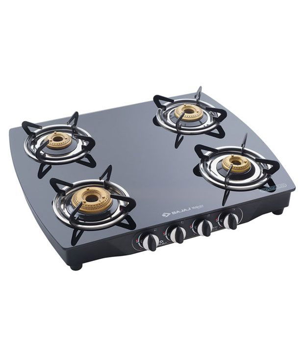 Bajaj Majesty CGX-10B-SS 4 Burner Gas Cooktop