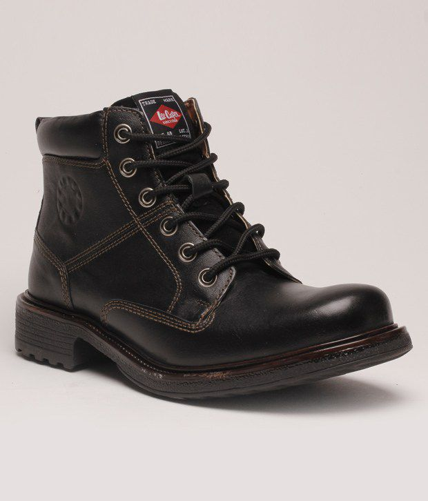 Lee Cooper Must Have Black High Ankle Length Boots