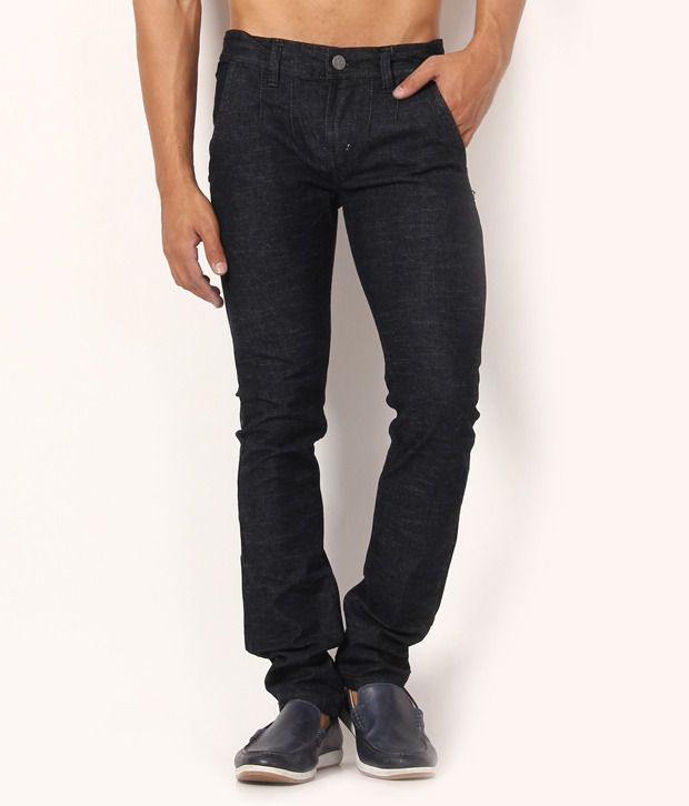 Muben Black Cotton Jeans
