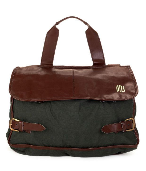 OTLS Military Green & Brown Messenger Bag