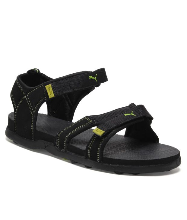e08484cd70df9 Puma Black & Green Floater Sandals - Buy Puma Black & Green Floater Sandals  Online at Best Prices in India on Snapdeal