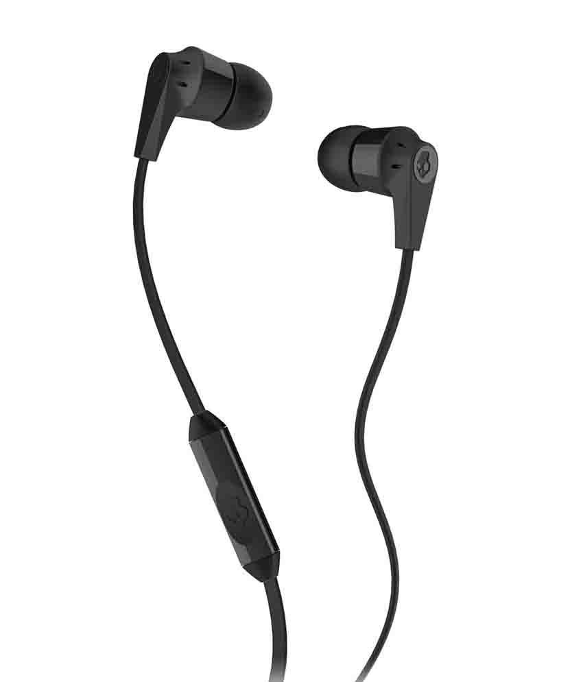Skullcandy INKD S2IKDY-003 In Ear Earphones with Mic (Black) With Mic
