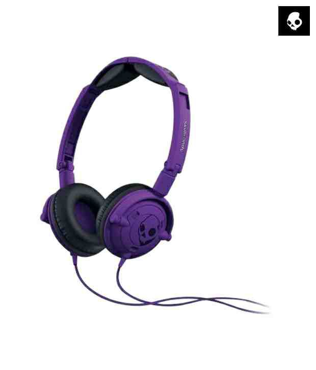 Skullcandy LOWRIDER S5LWFY-210 Over Ear Headphones with Mic (Purple) With Mic