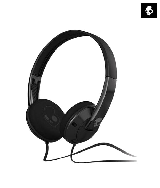 Skullcandy UPROCK S5URDY-003 Over Ear Headphones with Mic (Black) With Mic