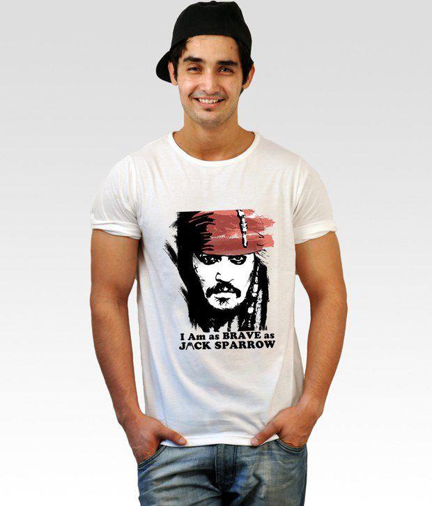 Incynk White Jack Sparrow T-Shirt