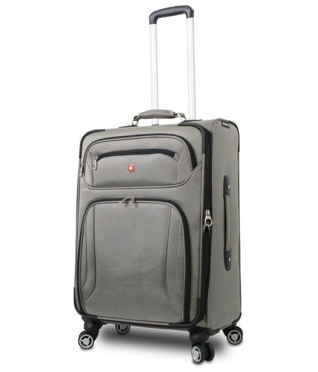 Wenger Swiss Card Onyx Black Translucent Grey Carry on Luggage