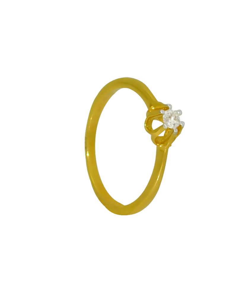 Vedanjali Prong Setting Single Diamond Ring