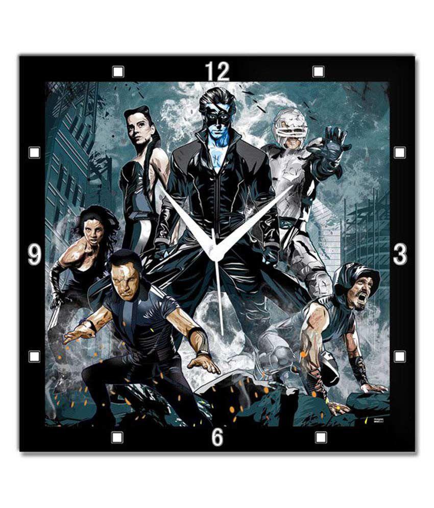 Bluegape Krrish 3 Poster Wall Clock Buy Bluegape Krrish 3