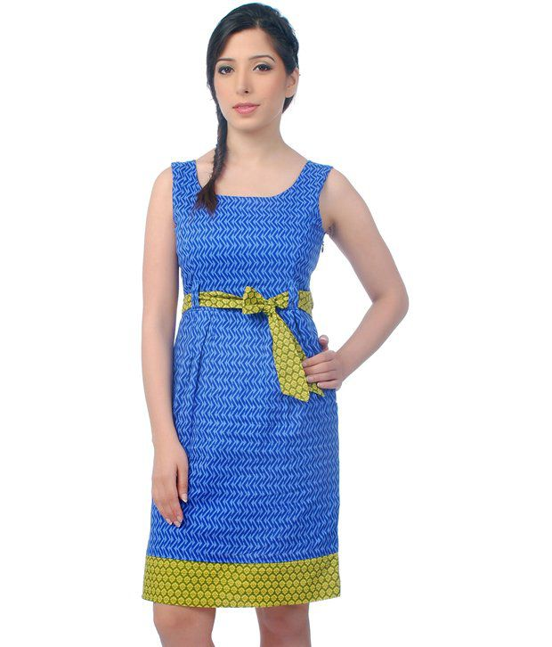 abd68fc5ac2c In Blue Cotton Dresses - Buy Co.In Blue Cotton Dresses Online at Best  Prices in India on Snapdeal