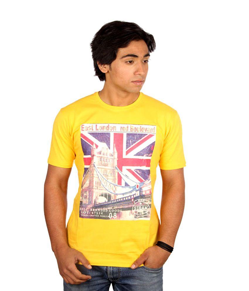 Strak London Yellow T-shirt