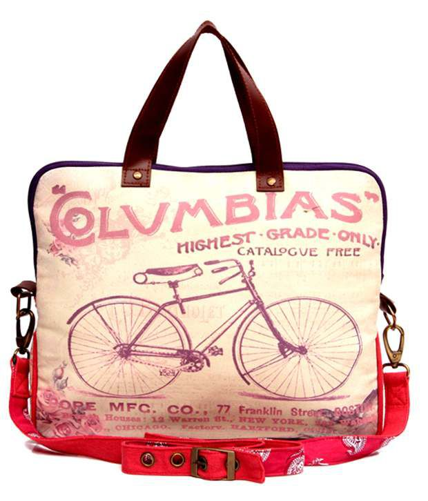 The House of Tara Bicycle Print Multicolor Laptop Bag