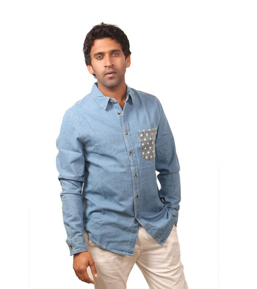 523accf0ce Topman Full Sleeves Sky Blue Denim Shirt - Buy Topman Full Sleeves ...