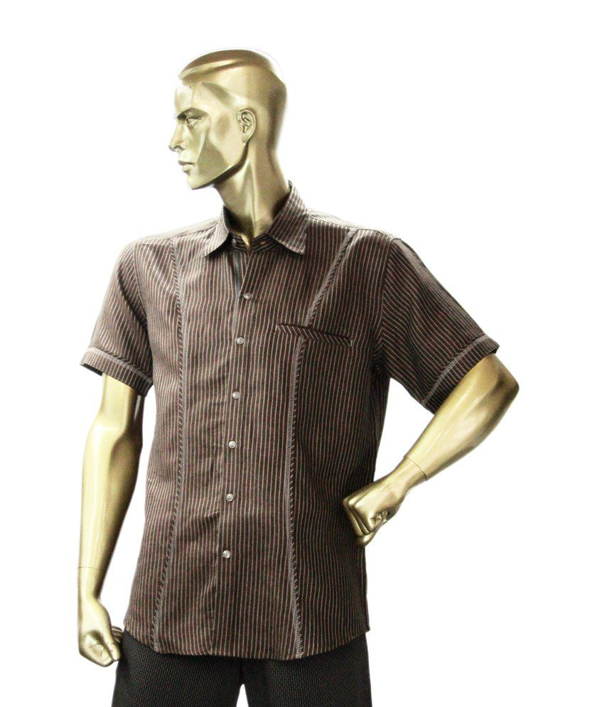 Zillian Brown Designer Shirt Buy Zillian Brown Designer Shirt