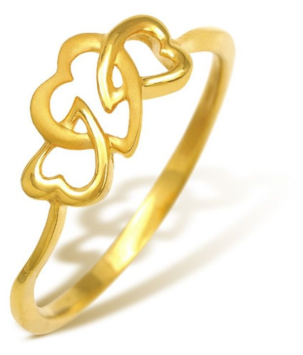 22 Kt Hallmarked gold & Swarovski Zirconia  1.85 Grams  Contemporary Ring By Nishtaa