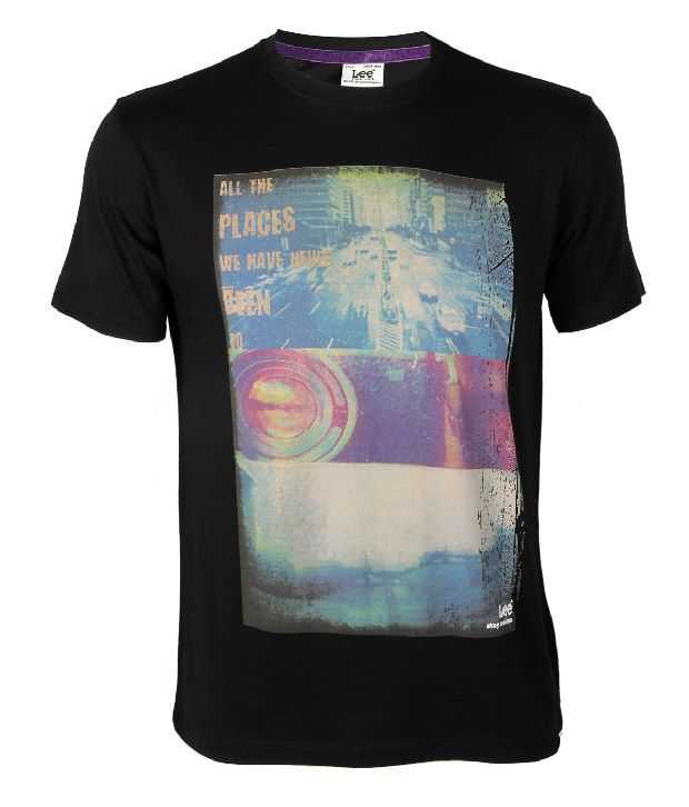 Lee Cooper Originals Trendy Black Printed T Shirt