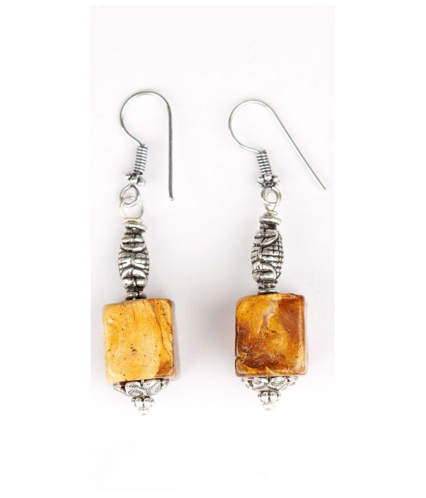 Voylla Cubical Handcrafted Lac Bead Earrings