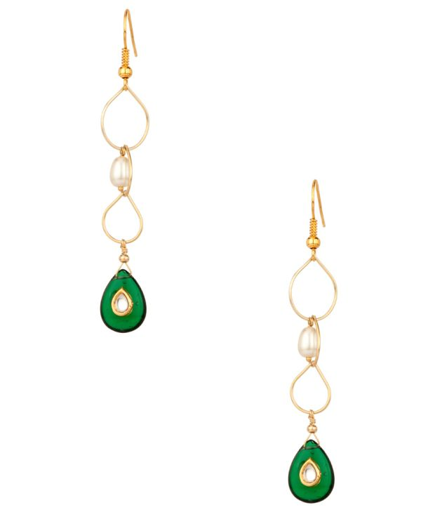 Voylla Dazzling Long Danglers With Interchangeable Drops