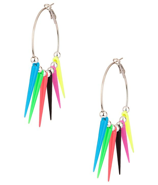 Voylla Lovely Neon Mix Hoop Earrings