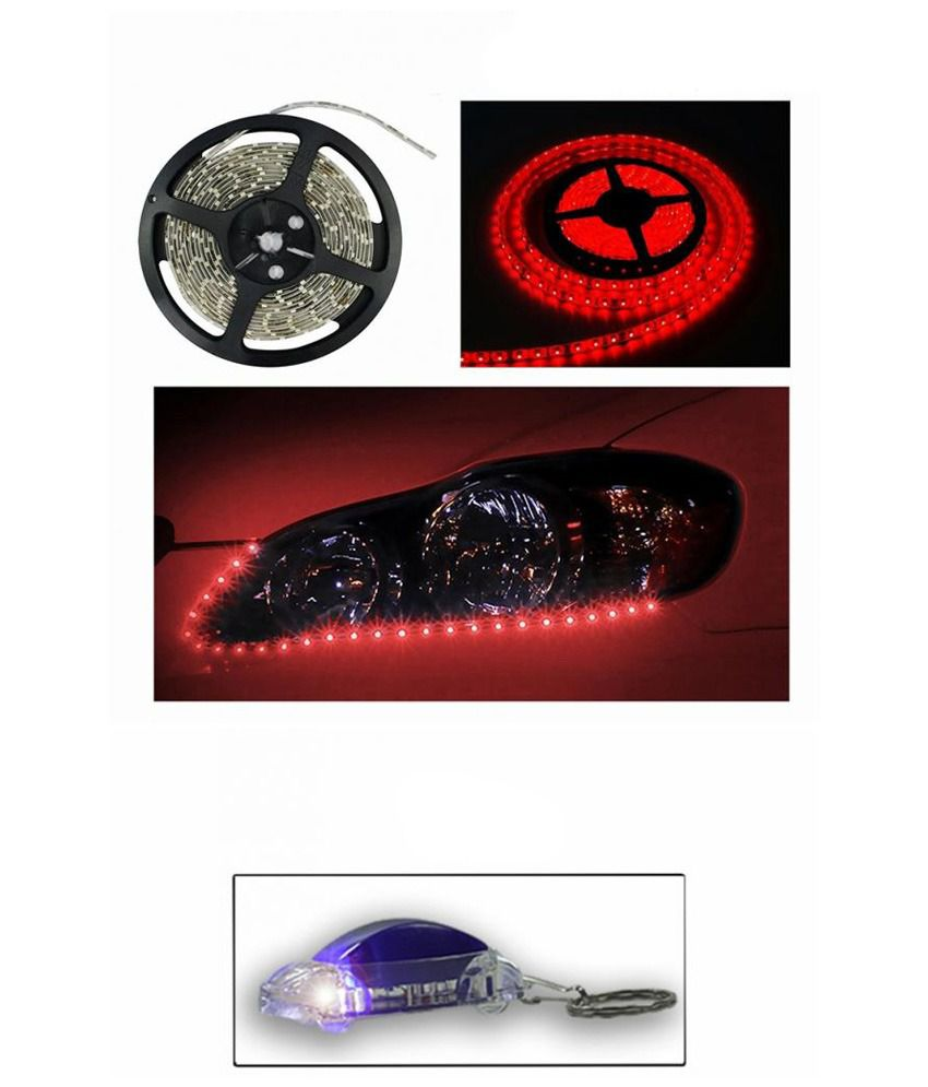 Accedre Decorative LED Rope Light- Red