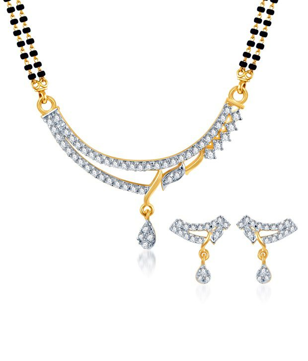 Sukkhi Amazing CZ Gold and Rhodium Plated Mangalsutra Set (Mangalsutra Mala may vary from the actual image)