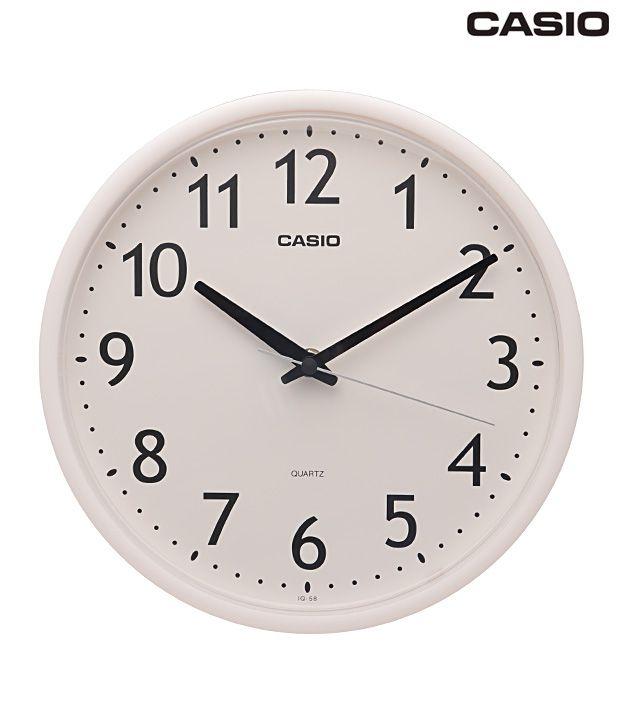 Casio White Round Analog Wall Clock: Buy Casio White Round ...