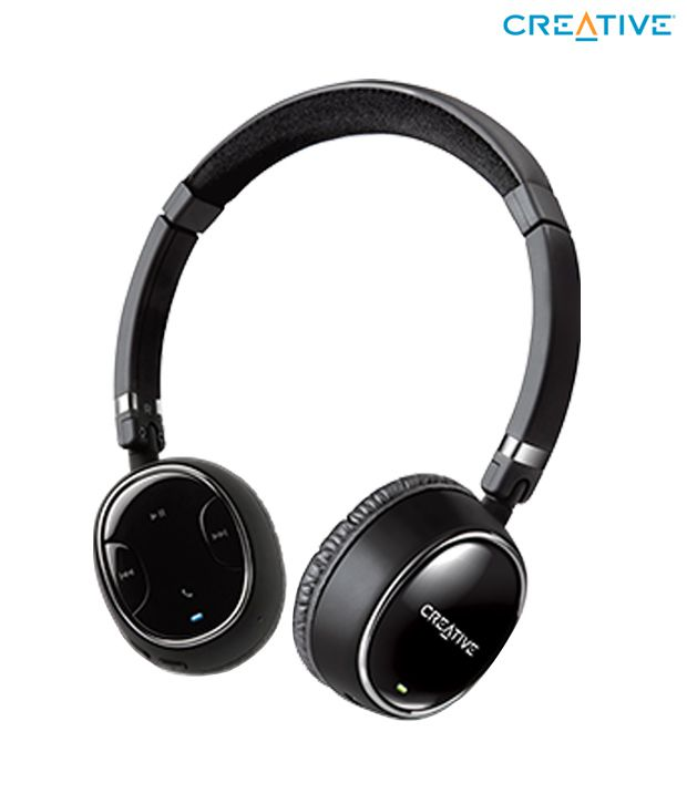 9d06011f3a6 Creative WP-350 Bluetooth Over Ear Headphone with Mic With Mic - Buy  Creative WP-350 Bluetooth Over Ear Headphone with Mic With Mic Online at Best  Prices in ...