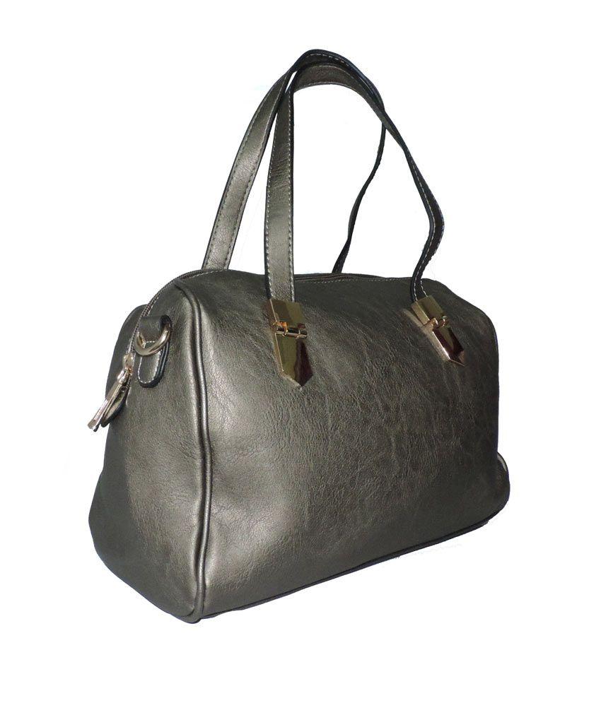 Elligator Silver Shoulder Bag