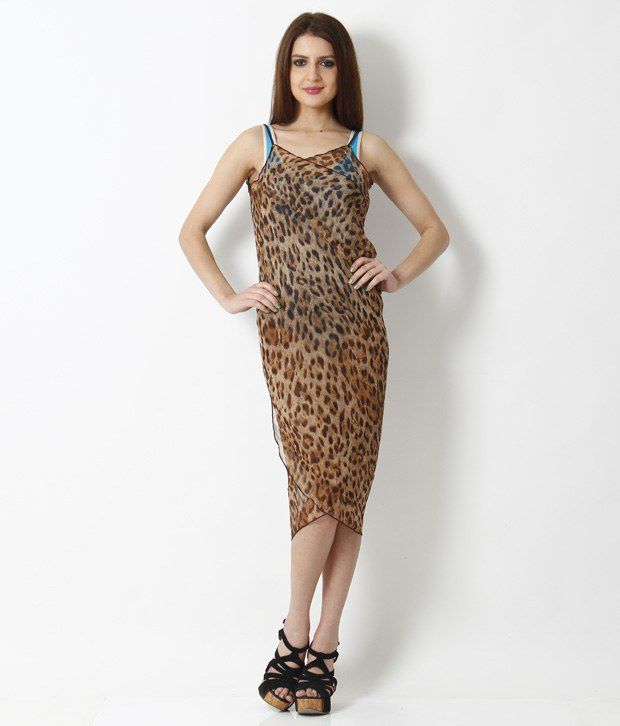 Buy Kunchals Brown Animal Print Wrap-Up Beach Dress Online at Best Prices  in India - Snapdeal 91a063e47