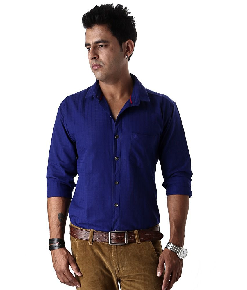65df0b29 Macoro 100% Cotton Linen Royal Blue Casual Shirt - Buy Macoro 100% Cotton Linen  Royal Blue Casual Shirt Online at Best Prices in India on Snapdeal