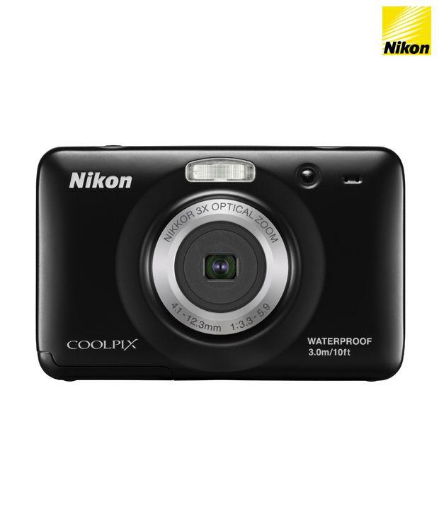 Nikon Coolpix S30 Point & Shoot Digital Camera (Black)
