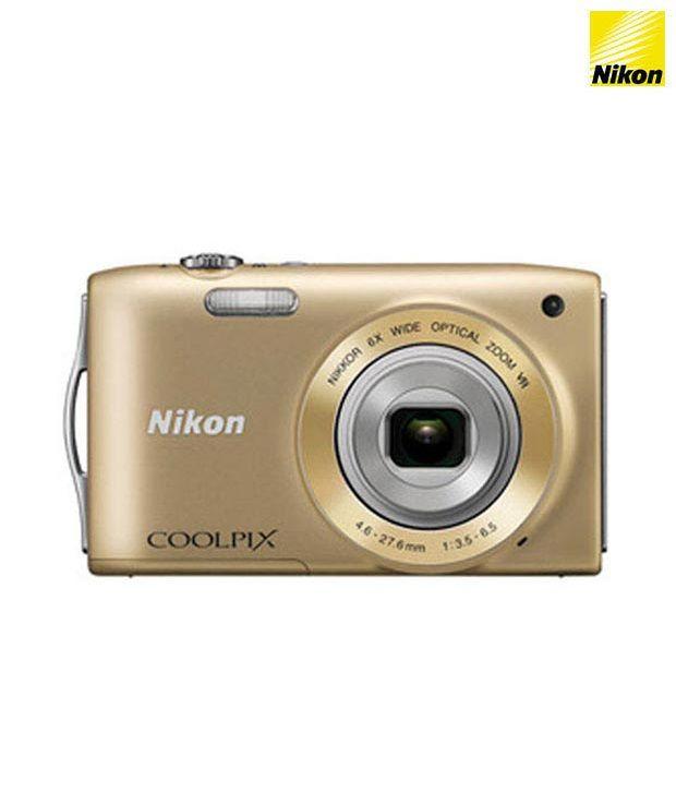 Nikon Coolpix S3300 16MP Digital Camera (Gold)