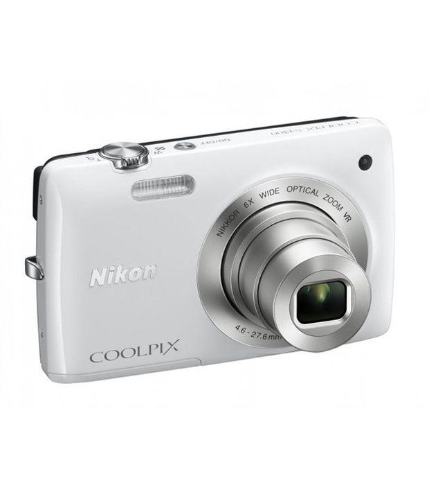 Nikon Coolpix S4300 16MP Digital Camera (White)