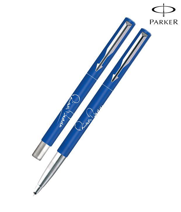 Parker Vector Spl Edition Blue Roller Ball Pen Hands Print