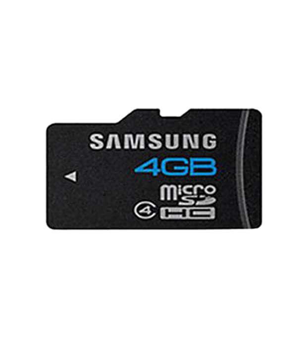 Samsung 4 GB Micro SD Card (Class 4)