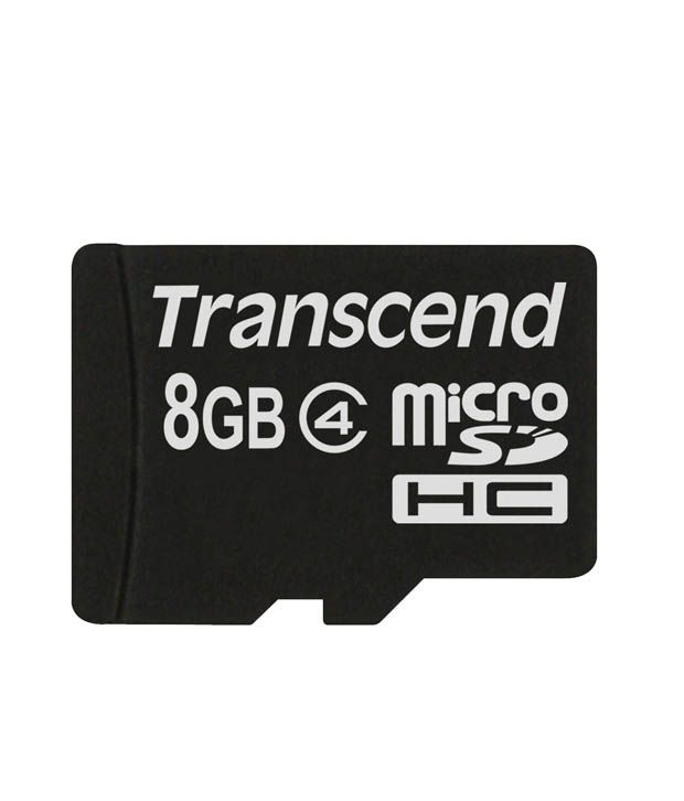 Transcend MicroSD Card 8 GB Class 4 available at SnapDeal for Rs.230