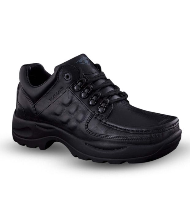 Woodland Black Outdoor Shoes - Buy Woodland Black Outdoor ...