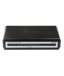 D-Link 10/100 Mbps 8-Ports Unmanaged Switch (DES-1008A) -Black