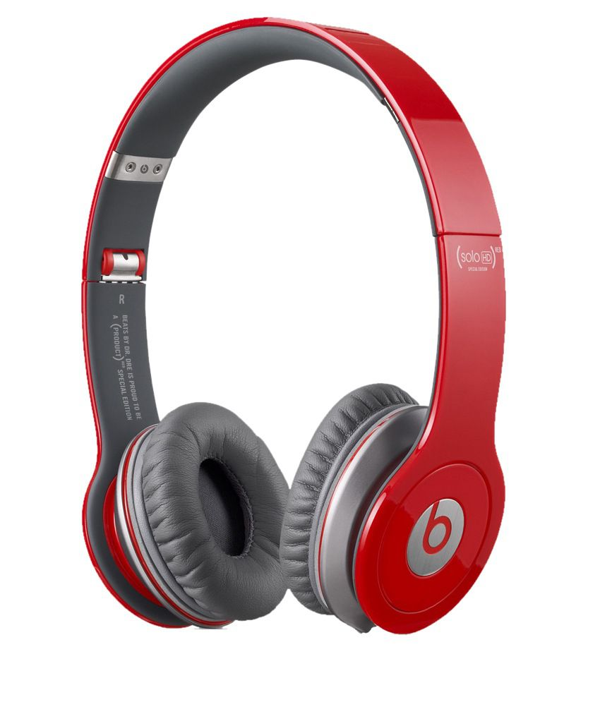 9076fbb84cb Buy Beats Solo HD Over Ear Headphones (Red) Without Mic Online at Best Price  in India - Snapdeal