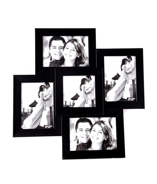 Celestial Wooden Black Wall Photo Frame Collage - 5 Frames: Buy ...