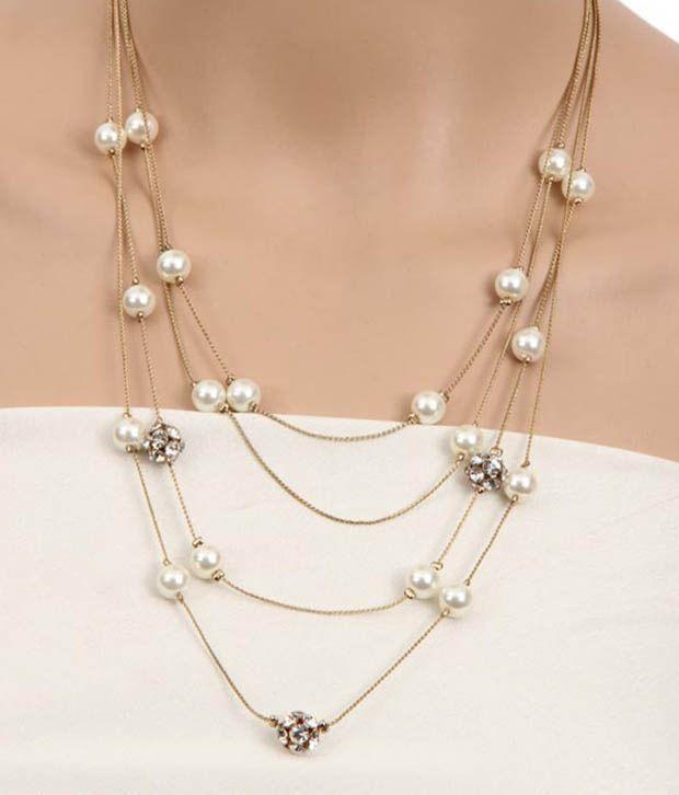 Pearl String Lights Multicolor : Diva Multi String Pearl Classy Necklace - Buy Diva Multi String Pearl Classy Necklace Online at ...