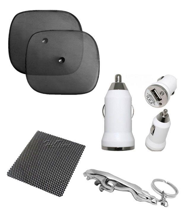 flomax combo of car window sunshades set of 2 jaguar keychain anti slip dashboard mat. Black Bedroom Furniture Sets. Home Design Ideas