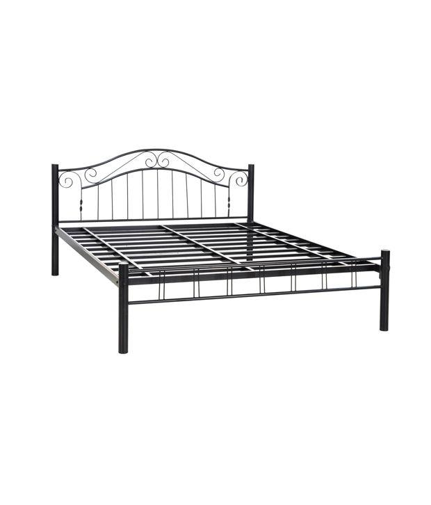 stark metal queen size bed in black