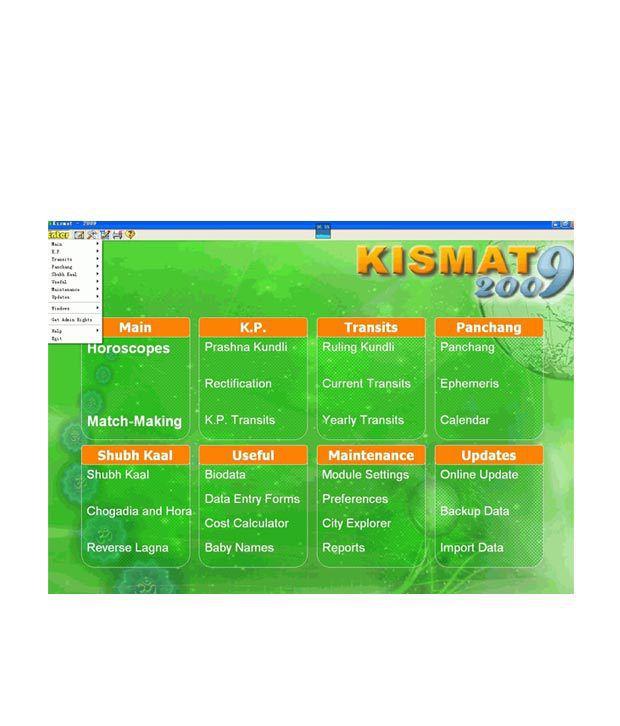 Kundali Kismat Software 2012 1 PC
