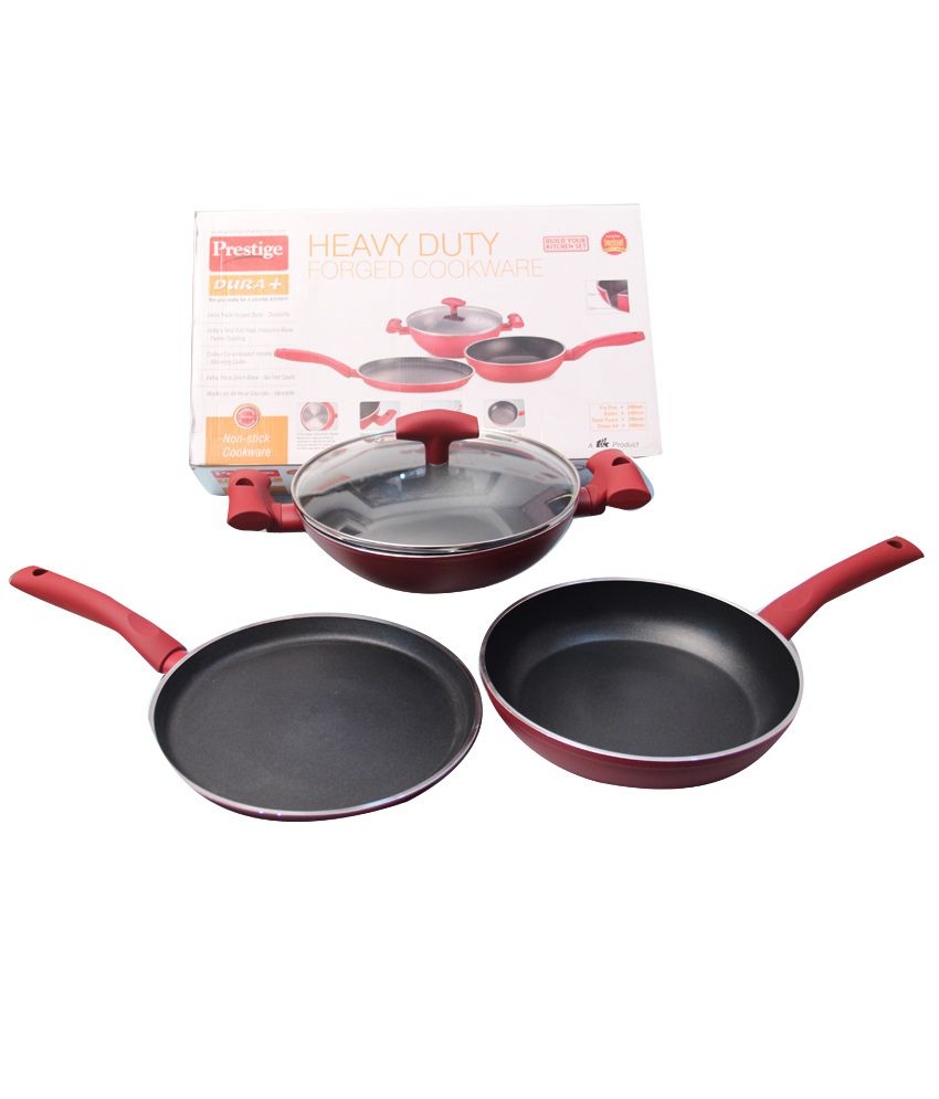Prestige Non Stick Cookware Set - 4 Pcs: Buy Online at Best Price ...