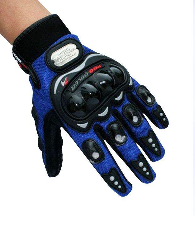 Pro Biker Gloves Full Blue Size Xl Buy Pro Biker