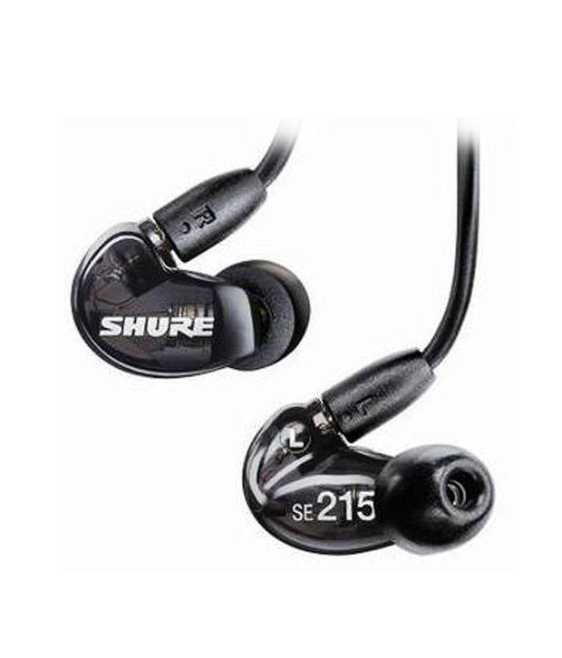 Shure SE215 K KCE Sound Isolating Earphones   Translucent  Black