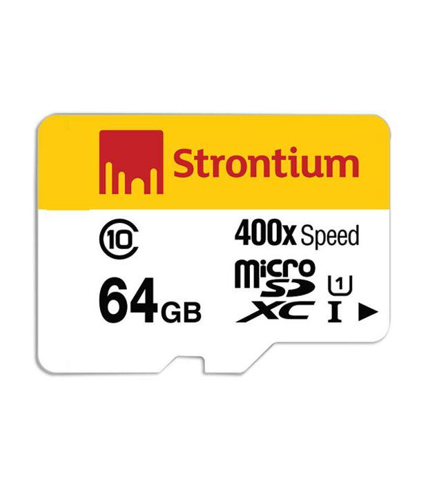 Strontium 400X 64GB MicroSDXC Class 10 UHS-1 Memory Card
