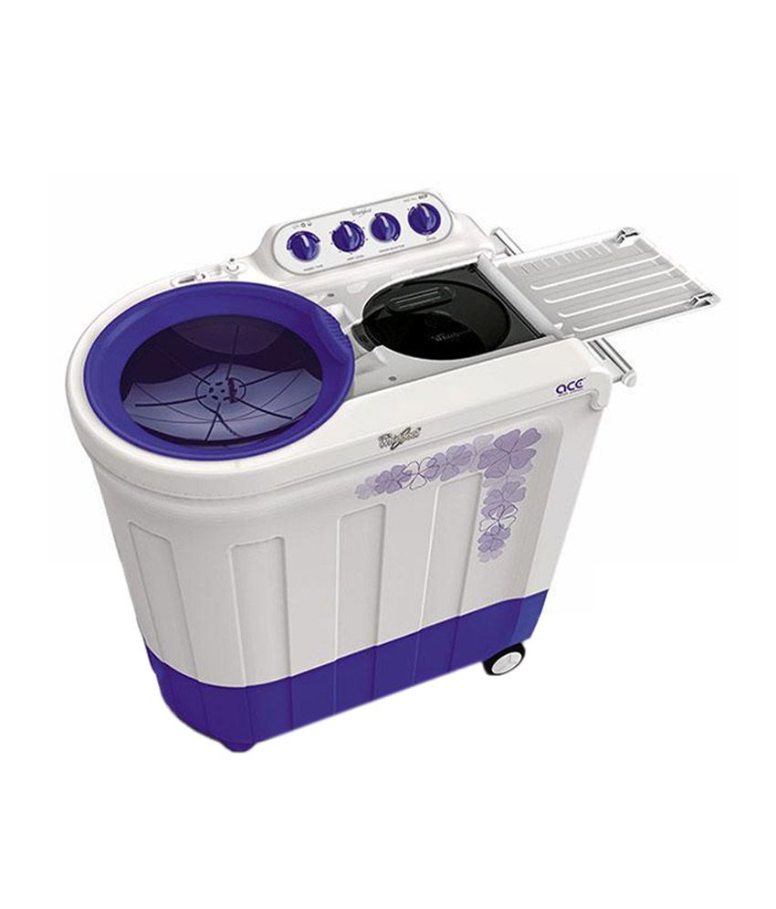 purple washing machine