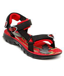 Columbus Smart Red and Black Floater Sandals outlet view TNUOY6Y